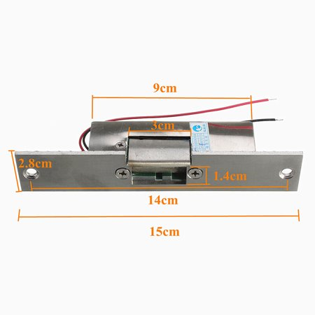 Door Electric Strike Lock Fail Safe NO Narrow-type Electronic Control 12V  - image 2 de 5