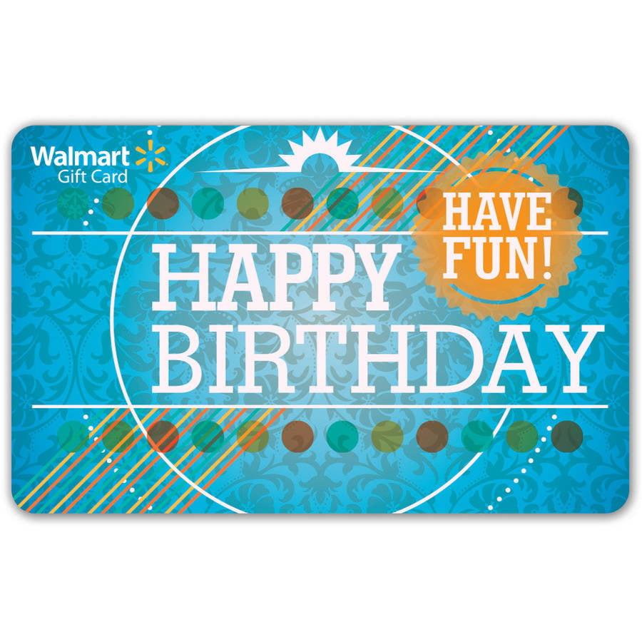 Birthday Walmart Gift Card - Walmart.com