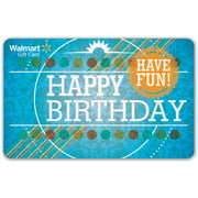 Birthday Walmart Gift Card