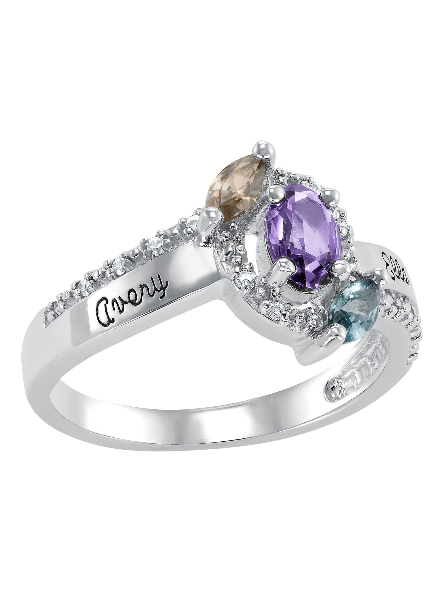 Keepsake Personalized Women's Calista Class Ring available in Valadium, Silver Plus, 10kt and 14kt Yellow and White Gold