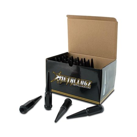 Metal Lugz 7004K6 Blk 14 X 1 5 In  6 Lugs Spike Kit With 1 Key  Black