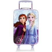 Frozen II Anna Elsa Soft Side Rolling Luggage for Kids [17 Inch - Purple]