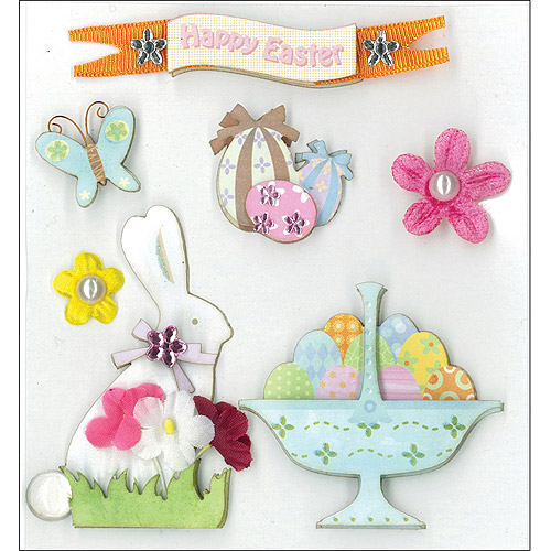 K & Company Dimensional Stickers, Easter Greeting