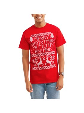 merry christmas ya filthy animal big mens holiday novelty tee