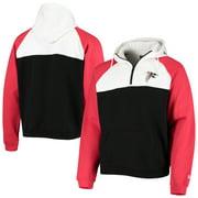 Atlanta Falcons New Era Gametime Quarter-Zip Hoodie Jacket - Black/White