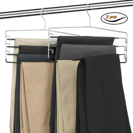 USTECH 4 Tier Pants Orgaizer - 2 (6 Pack Wardrobe)