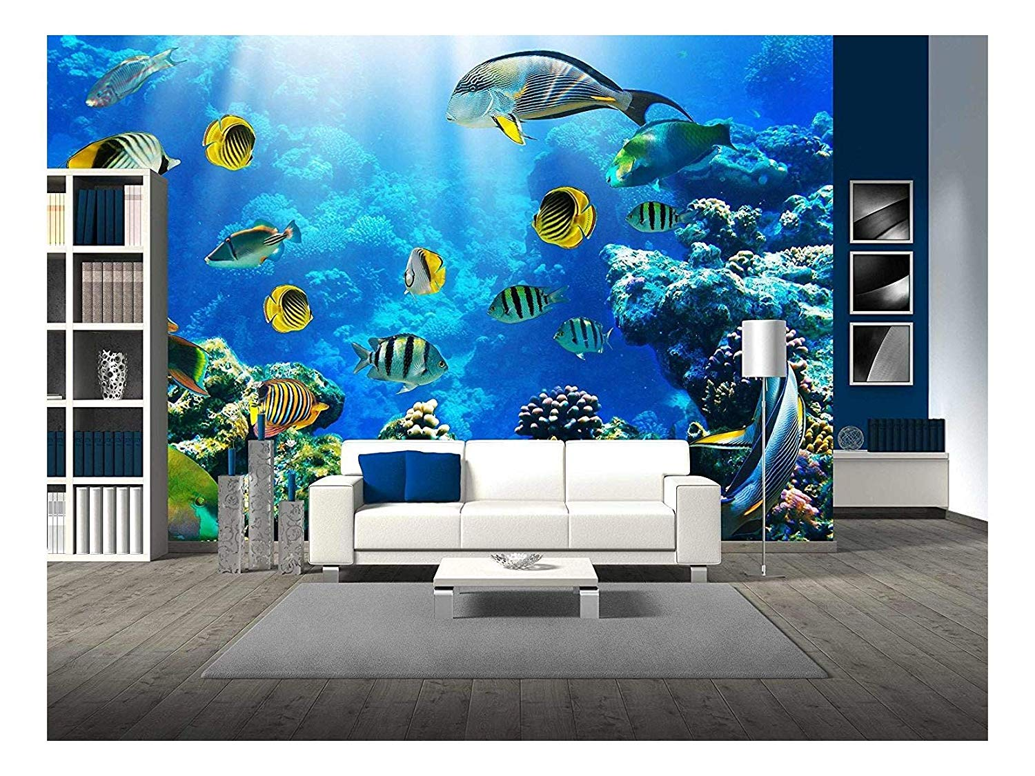 Wall26 Photo Of A Tropical Fish On A Coral Reef Removable Wall