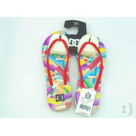DC Women's Spray Graffik Thong Sandal, Multi-Color, 10 M US 303363