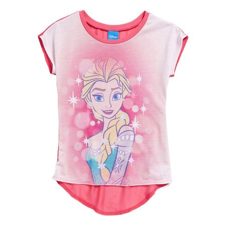 Disney Frozen Elsa Magic Everywhere Girls Pink T-Shirt | 7 (407 Disney)