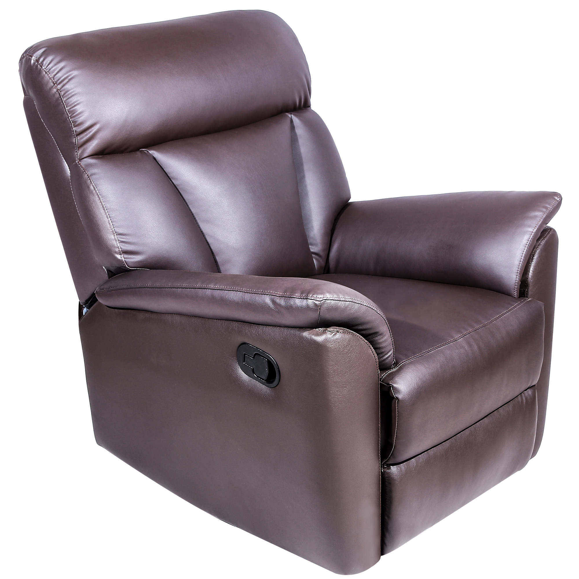 Harper&Bright Designs Recliner Sofa Chair PU Leather Ergonomic Lounge