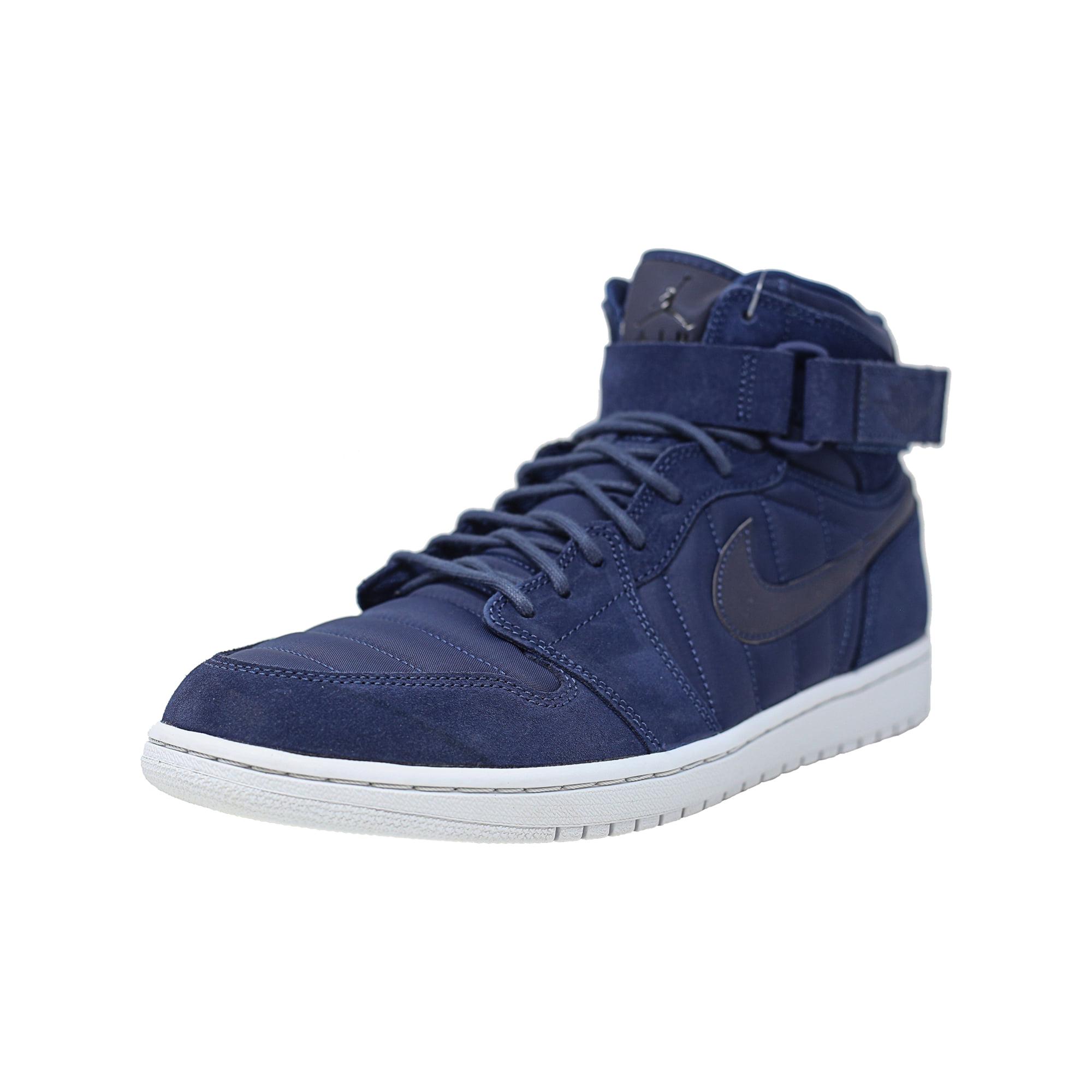 newest deef6 02bee Nike Men's Air Jordan 1 High Strap Black / - Pure Platinum High-Top  Basketball Shoe 8.5M