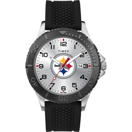 Pittsburgh Steelers Watch - Timex - NFL Tribute Collection Gamer Black Men's Watch, Pittsburgh Steelers