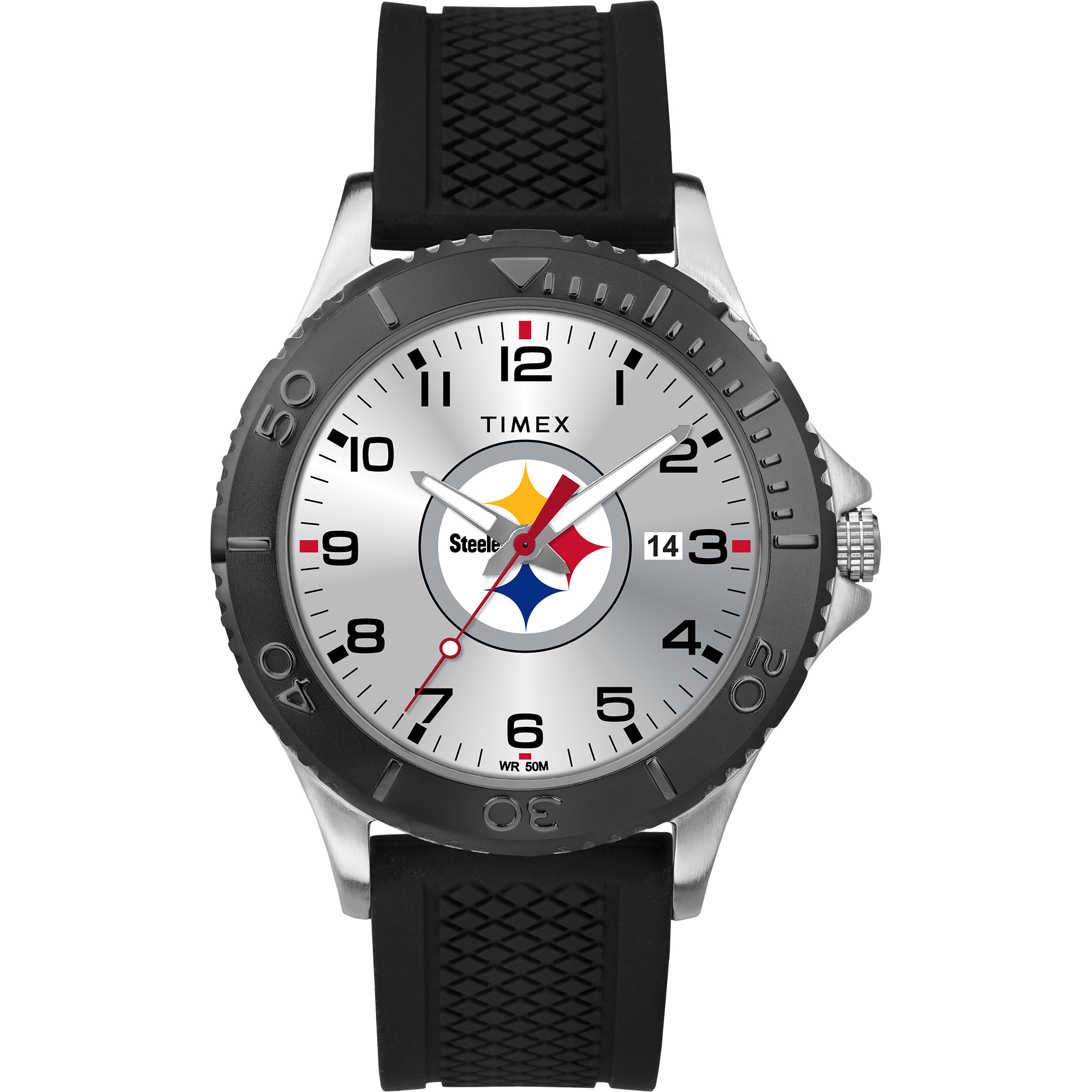 Timex - NFL Tribute Collection Gamer Black Men's Watch, Pittsburgh Steelers