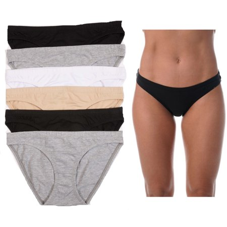 Just Intimates Bikini Panties for Women Comfortable Cotton Panty (Pack of 6)