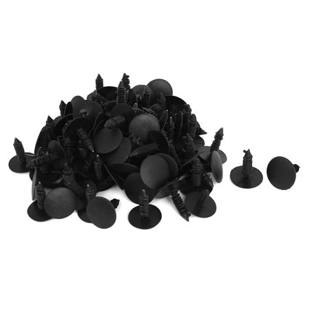Uxcell 26mm Car Auto Plastic Push in Rivets Clips Door Retainer Black Dia. Head(100-pack)