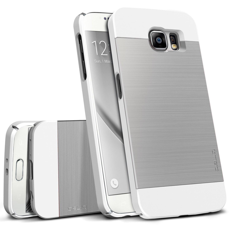 OBLIQ, Galaxy S6 Case [Slim Meta][Titanium Black] Premium Slim Fit Thin Metallic Brushed All Around Shock Resistant PC Protective Cover for Galaxy S6