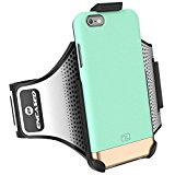 """iPhone 6 Plus 5.5"""" Armband & Sport Case (2 pc set, includes) Encased Click-N-Go Arm Band + Hybrid Cover"""