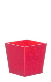 Dollhouse Office Trash Can Red
