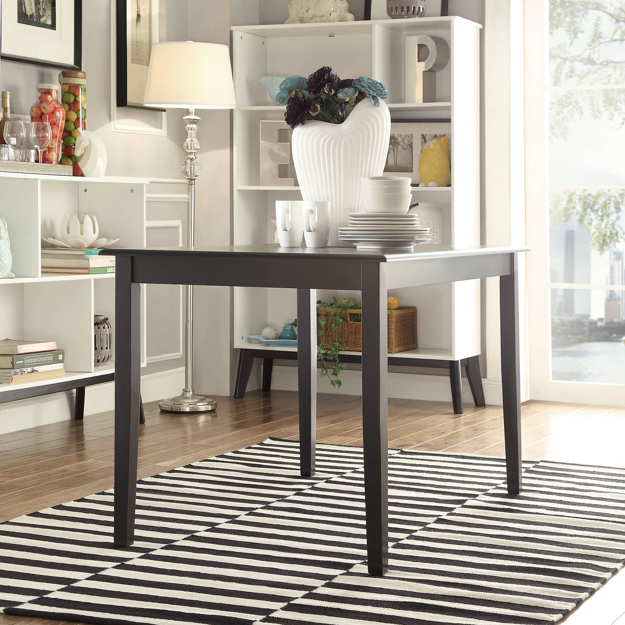 lexington dining table, black - walmart