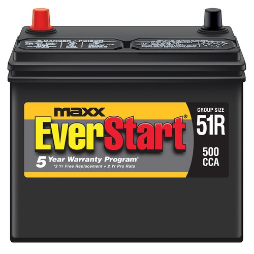 EverStart Maxx Lead Acid Automotive Battery, Group 51R