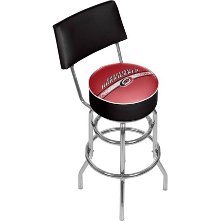 NHL Swivel Bar Stool with Back, Carolina Hurricanes by