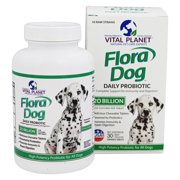 Vital Planet - Flora Dog Raw Daily Probiotic Beef Flavored 20 Billion CFU - 30 Chewable Tablets