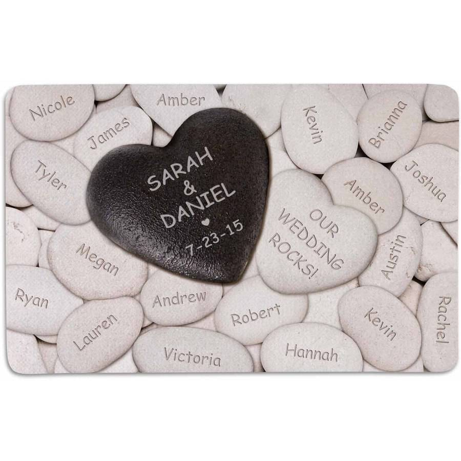 "Personalized Our Wedding Rocks Doormat, 17"" x 27"""
