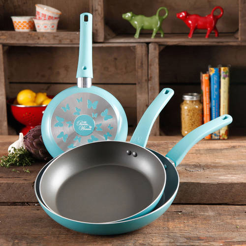 The Pioneer Woman Butterfly 3-Piece Non-Stick Fry Pan Set with Butterfly Logo