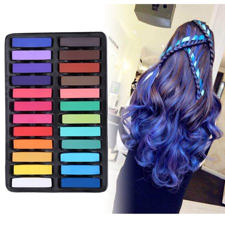 Hair Chalk - Pretty See Multi-colored Hair Chalk Set Washable Temporary Hair Chalk Pens Practical Hair Dye Pens, Suitable for One-time Dyeing, Set of