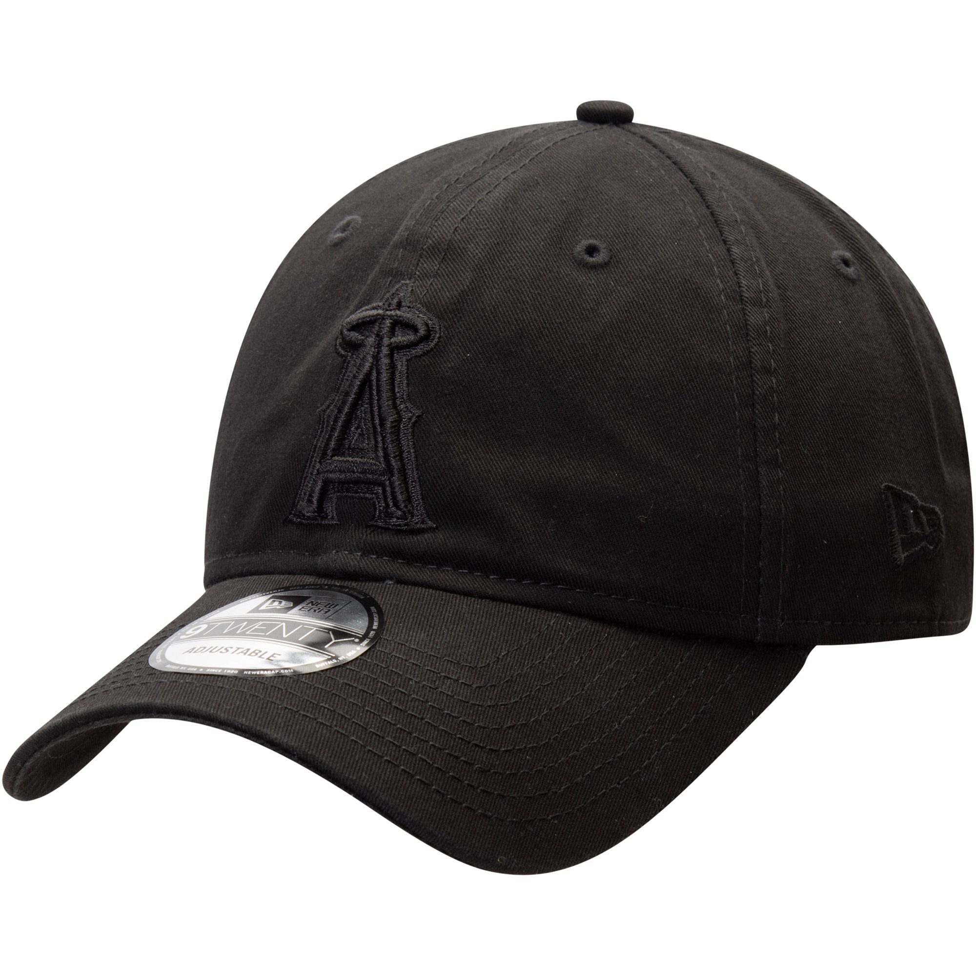 Los Angeles Angels New Era Team Tonal Core Classic 9TWENTY Adjustable Hat - Black - OSFA