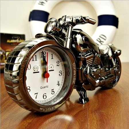 Fashion Cool Motorcycle Motorbike Quartz Alarm Clock Desk Home Bedroom Decor Kids Toys Birthday Christmas Gift Old Fashion Alarm Clock