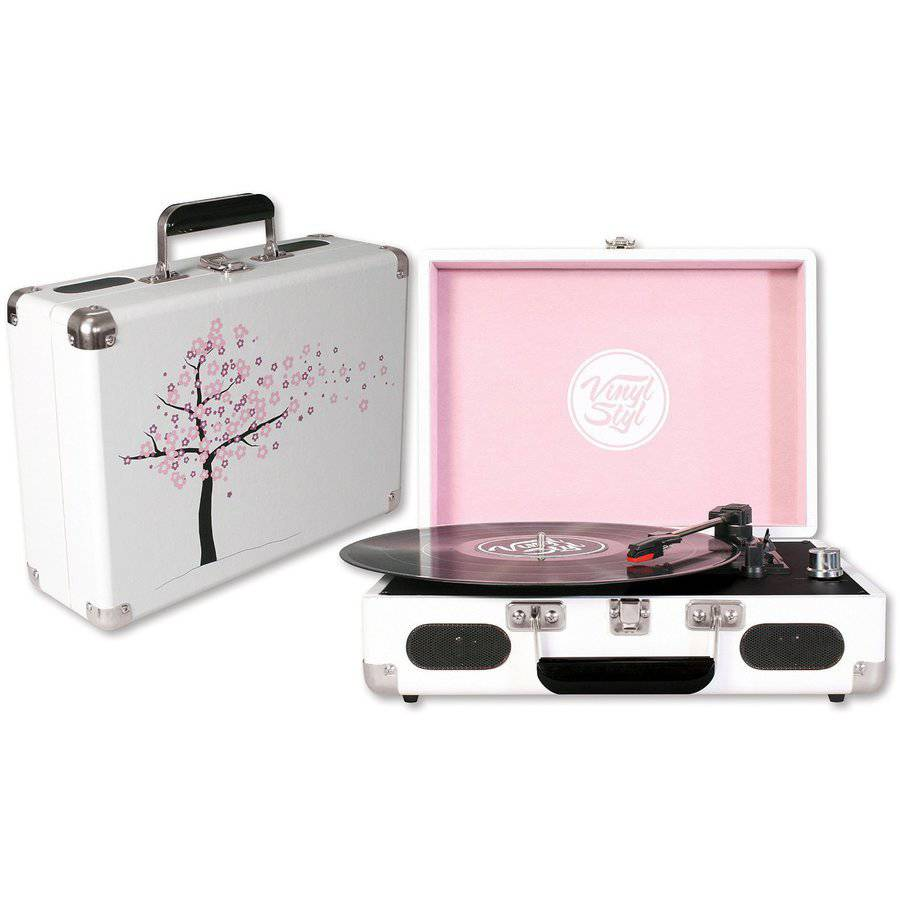 Vinyl Styl Groove Portable Turntable, Cherry Blossom
