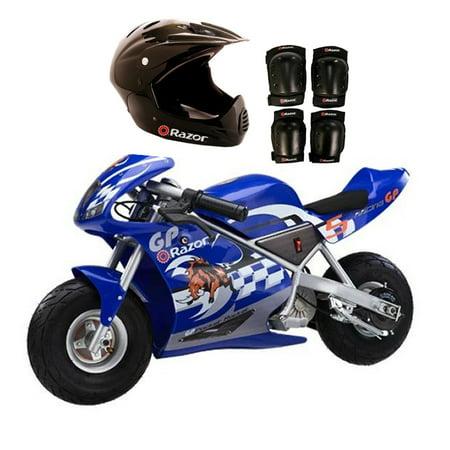 Razor Blue Pocket Rocket Bike Sport Helmet And Pads 15120040 97775 96785