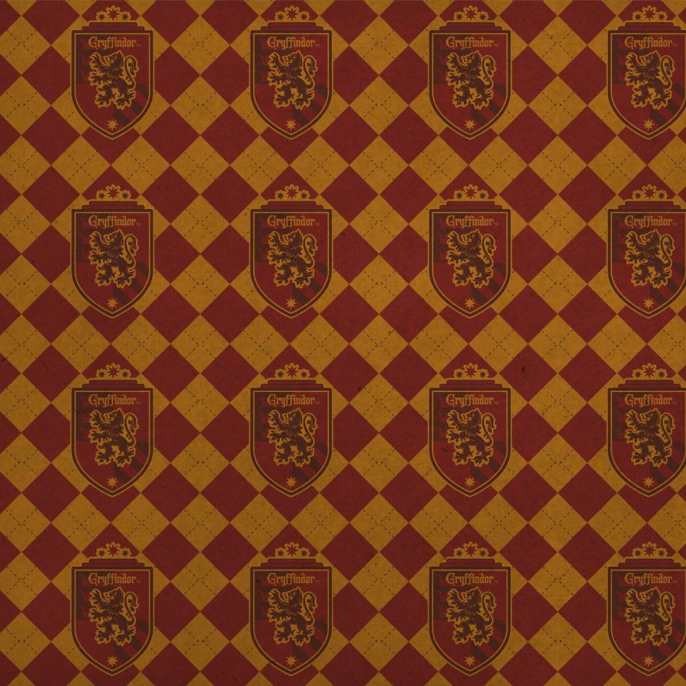 Harry Potter Gryffindor Plaid Sigil Premium Kraft Roll