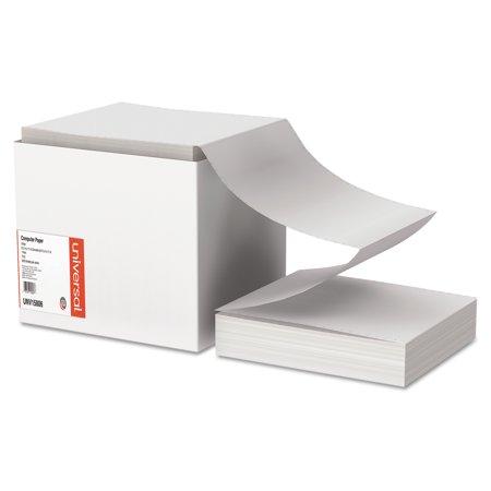 Universal Computer Paper, 15lb, 9-1/2 x 11, Letter Trim Perforations, White, 3300 Sheets (Letter Trim Perforations)
