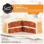 Sam's Choice Thaw & Serve Carrot Cake, 30 oz