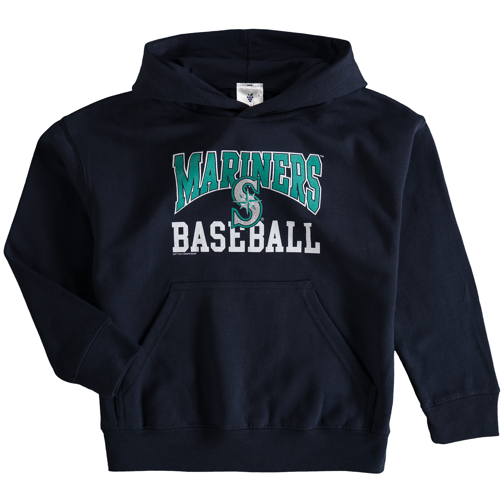Seattle Mariners Soft as a Grape Youth Pullover Hoodie - Navy - Yth L
