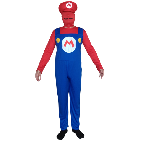Mario Adult Costume Super Mario Bros Spandex Lycra Bodysuit Nintendo - Super Mario Bros Costumes For Adults