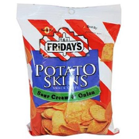 Poore Brothers Tgif Potato Skins Sour Cream And Onion Flavor, 3-Ounces (Pack of 6)