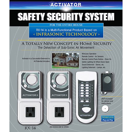 Safeguard Activator RX-14C Infrasonic Multiple Sensor Home Security System (Retail Packaging)