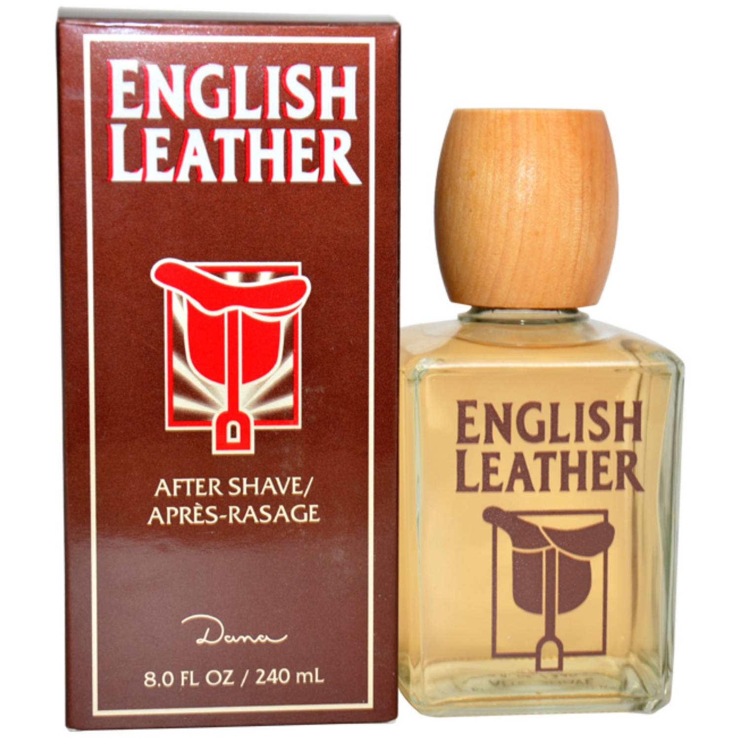 Dana English Leather for Men After Shave Lotion Splash, 8 oz