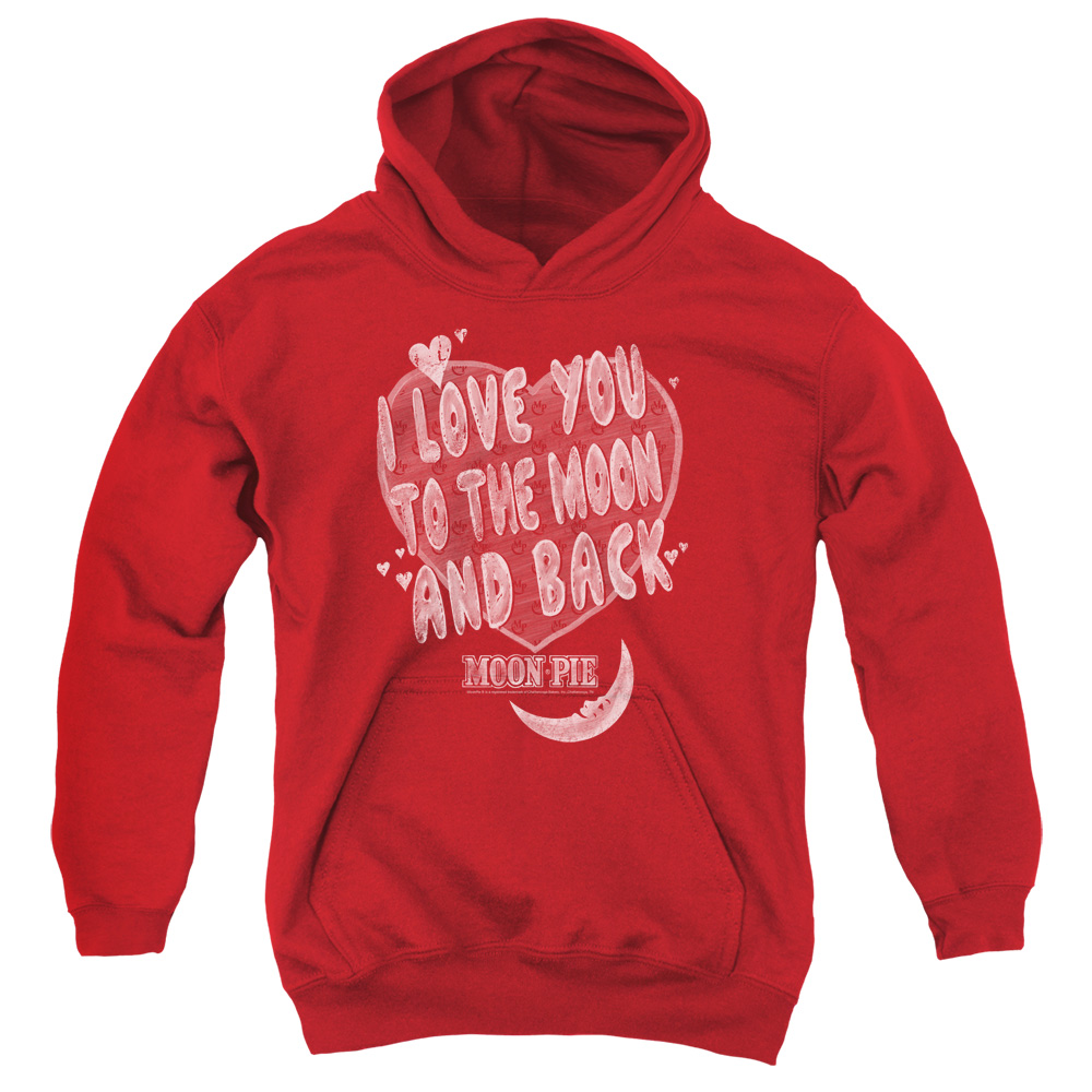 Moon Pie I Love You Big Boys Pullover Hoodie