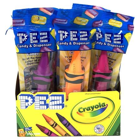 Pez Crayola Crayon Pez Candy Dispensers (12 Pack) 12 Pack (Crayola Candy)