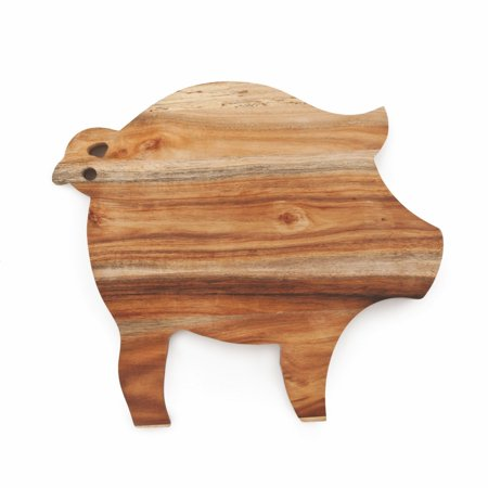 Cheese Board Serving, Acacia Wood Unique Pig Rustic Elegant Cheese Board (Sold by Case, Pack of 6) ()