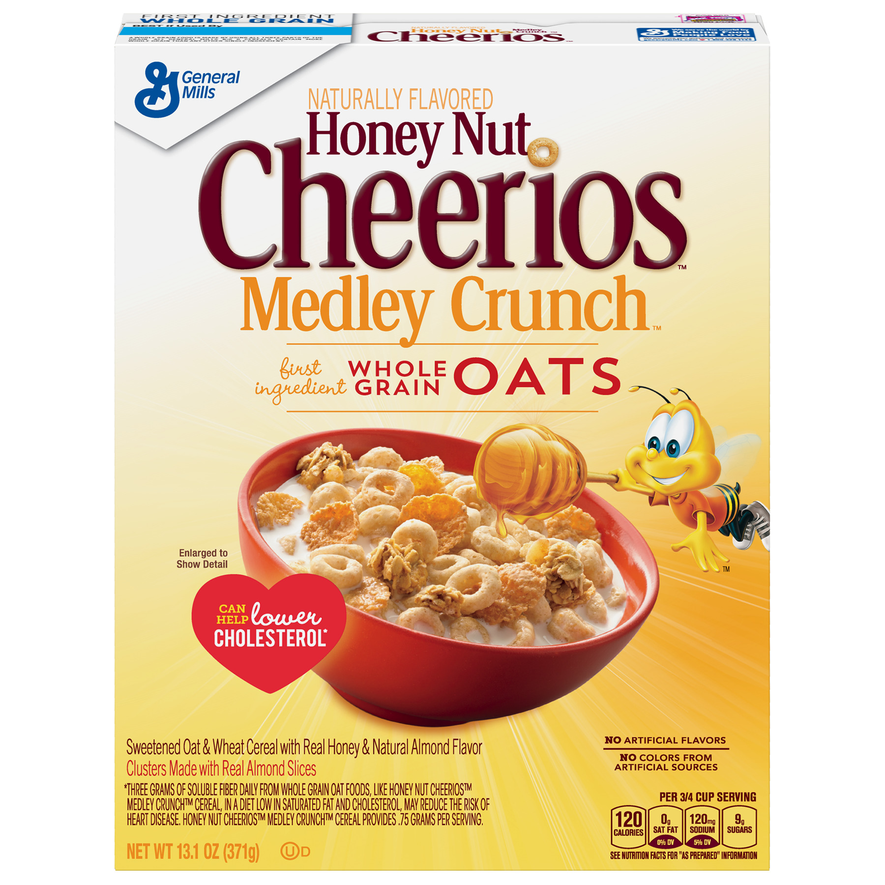 Honey Nut Cheerios Medley Crunch Cereal, 13.1 oz Box