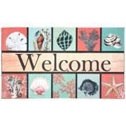 J & M Home Fashions Coastal Welcome Doormat 18x30