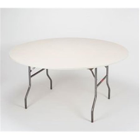 Kwik Covers 60pk Ivory 60 In Round Ed Plastic Table With Elastic