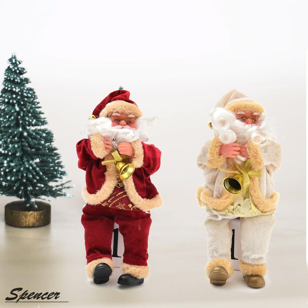 """Spencer Santa Claus Figurine Plush Toy Sitting Doll Christmas Ornaments Toy Home Decoration """"Red"""""""
