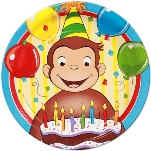 Curious George Edible Cake Topper Frosting 1/4 Sheet Birthday Party