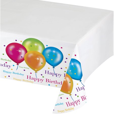 Balloon Birthday Table Cover Walmart Com